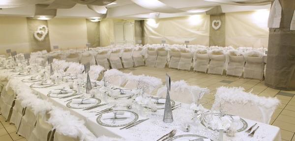 Salle de repas de mariage