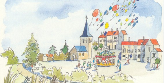 Carte postale Lâcher de ballons